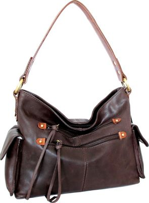 Nino Bossi Abagail Hobo Chocolate - Nino Bossi Leather Handbags