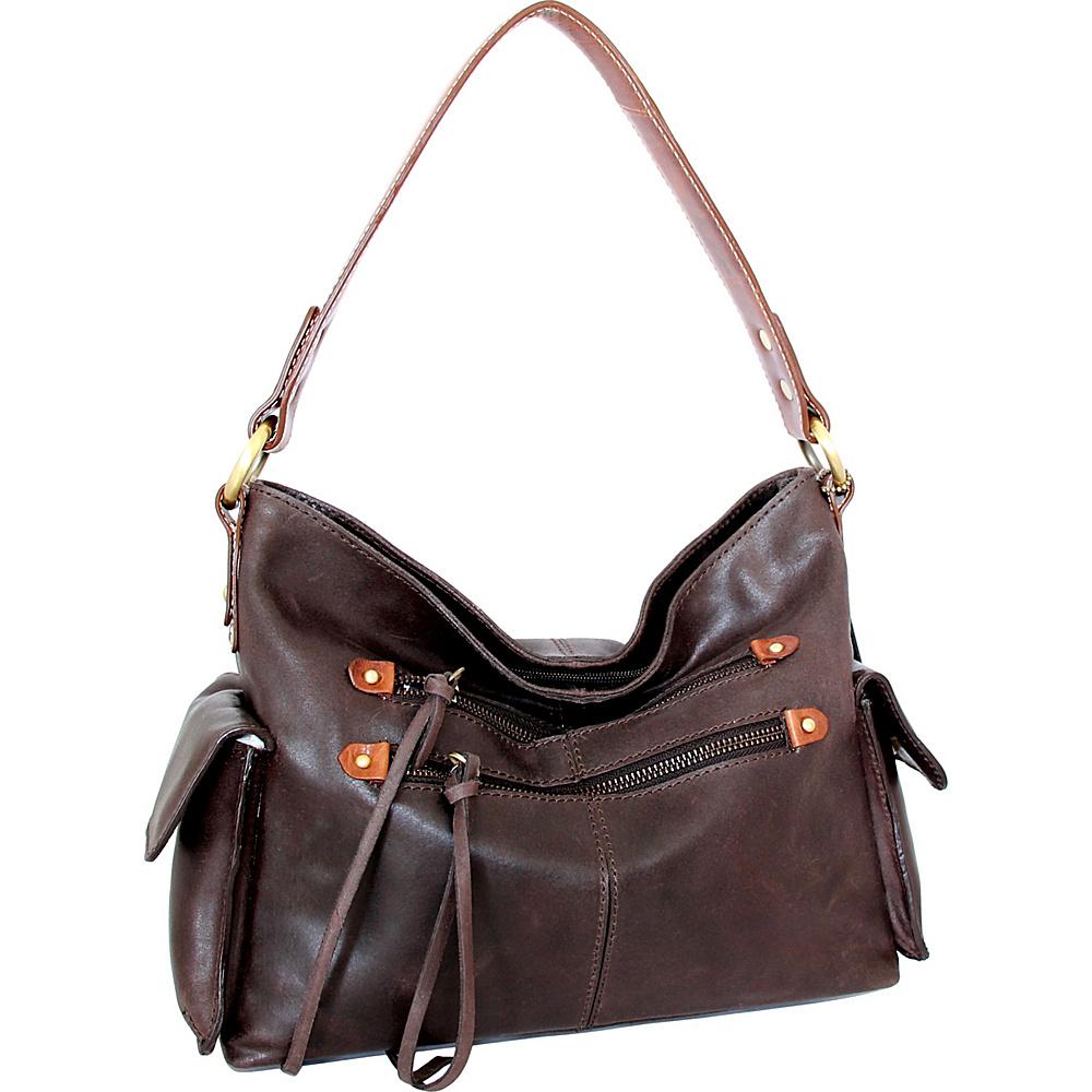 Nino Bossi Abagail Hobo Chocolate - Nino Bossi Leather Handbags - Handbags, Leather Handbags