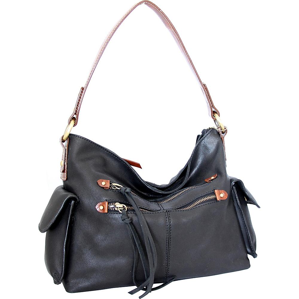 Nino Bossi Abagail Hobo Black - Nino Bossi Leather Handbags - Handbags, Leather Handbags