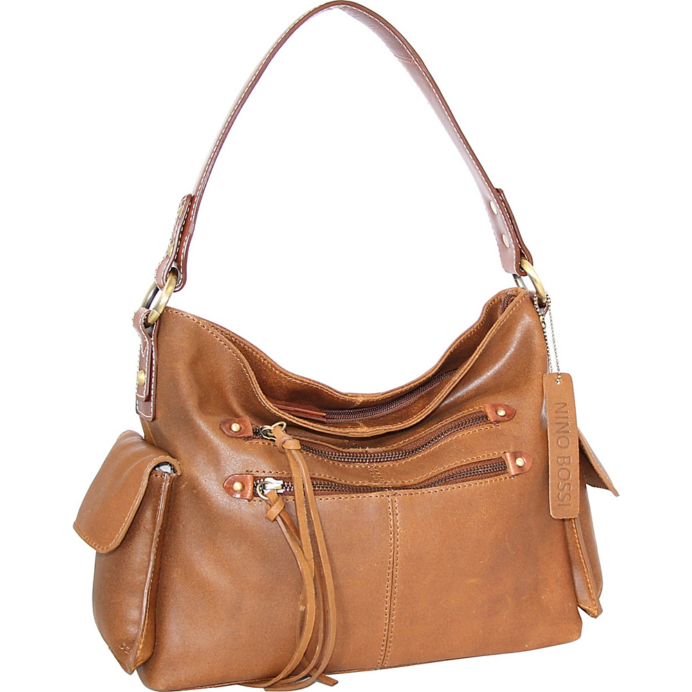 Nino Bossi Abagail Hobo Saddle - Nino Bossi Leather Handbags - Handbags, Leather Handbags