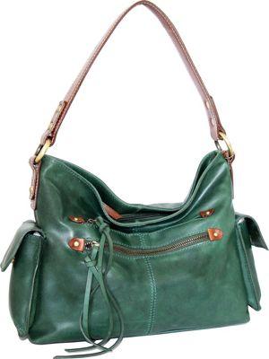 Nino Bossi Abagail Hobo Moss - Nino Bossi Leather Handbags