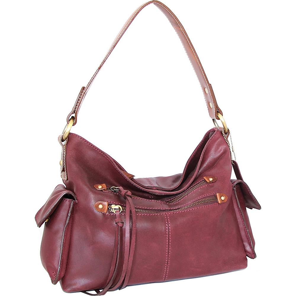 Nino Bossi Abagail Hobo Plum - Nino Bossi Leather Handbags - Handbags, Leather Handbags