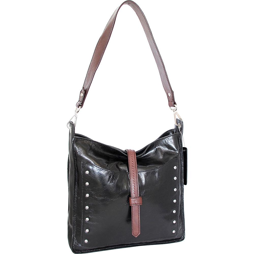 Nino Bossi Iyanna Shoulder Bag Black - Nino Bossi Leather Handbags - Handbags, Leather Handbags