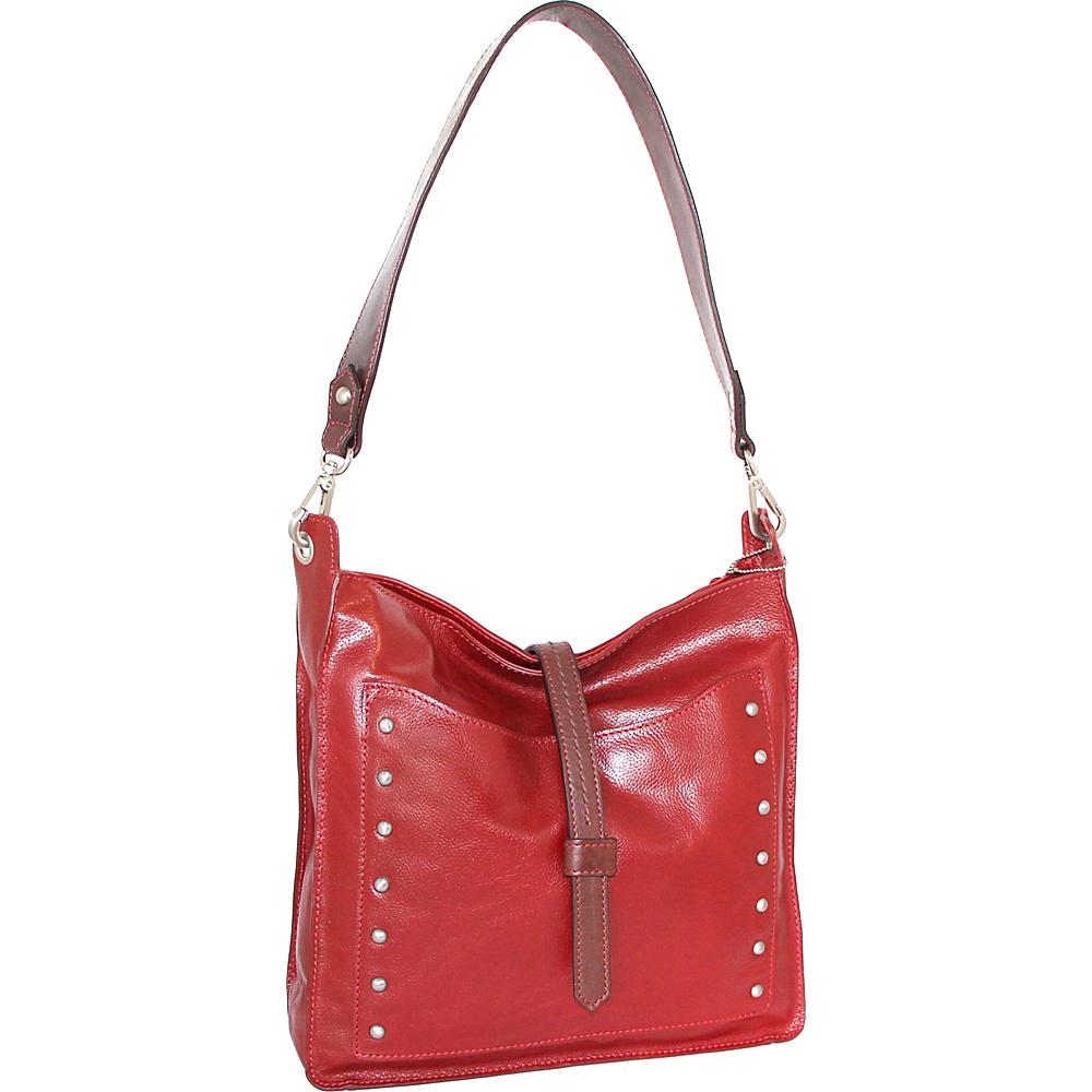 Nino Bossi Iyanna Shoulder Bag Crimson - Nino Bossi Leather Handbags - Handbags, Leather Handbags