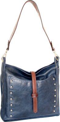 Nino Bossi Iyanna Shoulder Bag Blue - Nino Bossi Leather Handbags