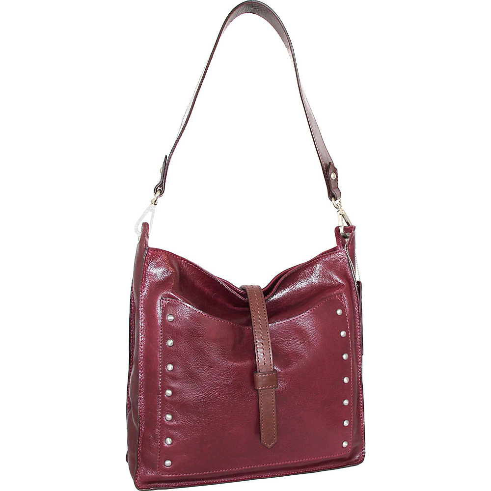 Nino Bossi Iyanna Shoulder Bag Plum - Nino Bossi Leather Handbags - Handbags, Leather Handbags