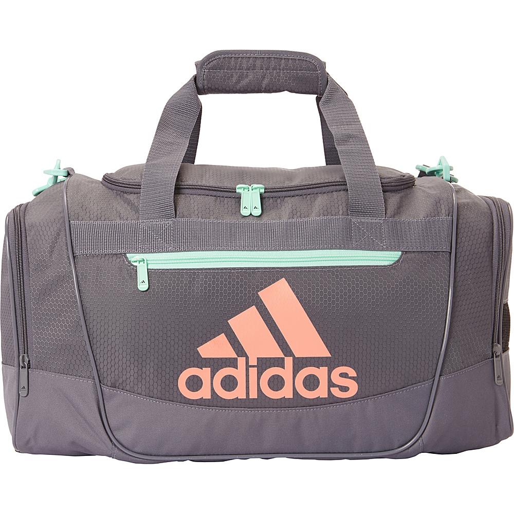 fd8ea187d50 Adidas Defender III Small Duffel Onix Easy Green Chalk Coral - adidas Gym  Duffels