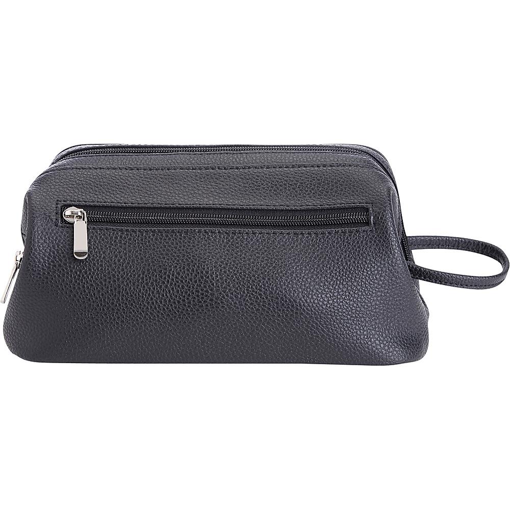Royce Leather Toiletry Travel Wash Bag Black - Royce Leather Toiletry Kits - Travel Accessories, Toiletry Kits