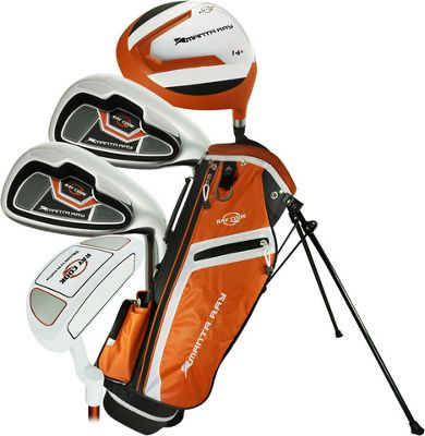 Ray Cook Golf Junior Manta Ray Golf 5 Piece Set with Bag Ages 3-5 - Left Handed Orange - Ray Cook Golf Golf Bags