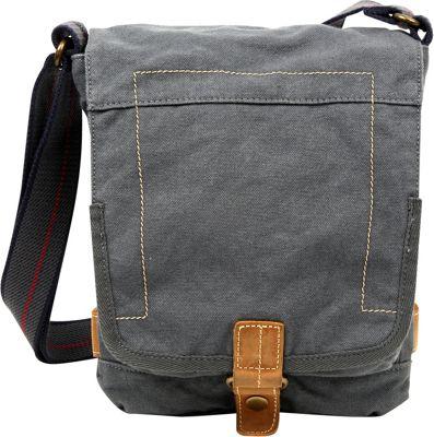 TSD Atona Classic Flap Crossover Grey - TSD Fabric Handbags