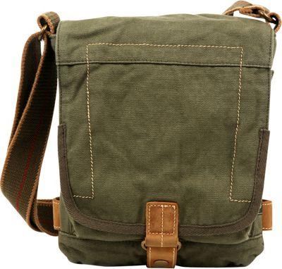 TSD Atona Classic Flap Crossover Army Green - TSD Fabric Handbags