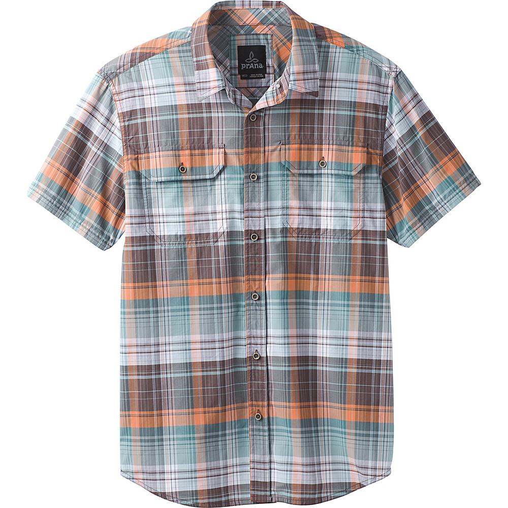 PrAna Cayman Plaid Short Sleeve Shirt S - Starling Green - PrAna Mens Apparel - Apparel & Footwear, Men's Apparel