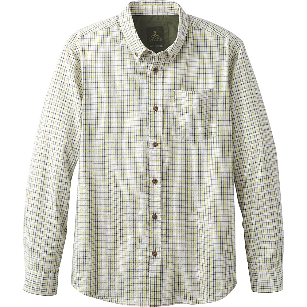 PrAna Broderick Check Long Sleeve L - Bio Green - PrAna Mens Apparel - Apparel & Footwear, Men's Apparel