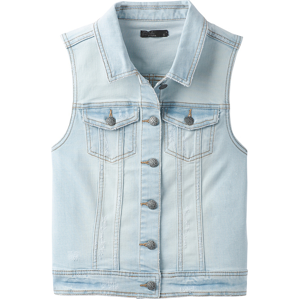 PrAna Dree Vest M - Sunbleached Blue - PrAna Womens Apparel - Apparel & Footwear, Women's Apparel
