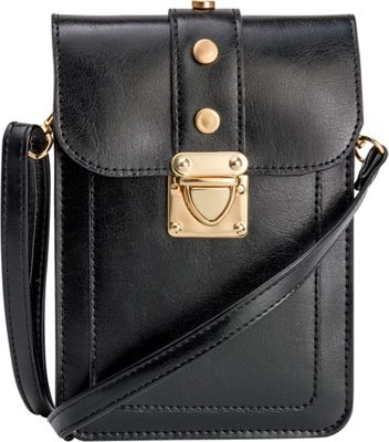 Rebecca & Rifka Triple Compartment Crossbody Black - Rebecca & Rifka Manmade Handbags