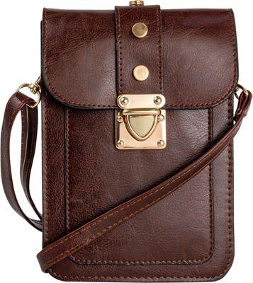 Rebecca & Rifka Triple Compartment Crossbody Cognac - Rebecca & Rifka Manmade Handbags