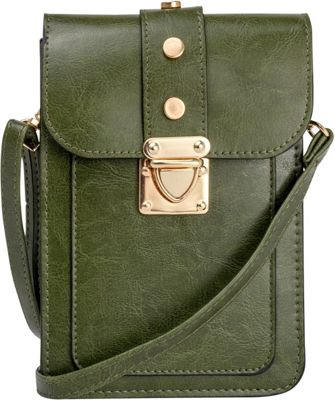 Rebecca & Rifka Triple Compartment Crossbody Forest - Rebecca & Rifka Manmade Handbags