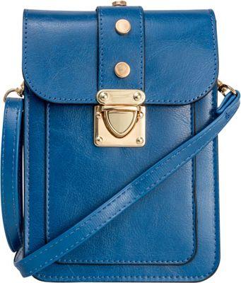 Rebecca & Rifka Triple Compartment Crossbody Teal - Rebecca & Rifka Manmade Handbags