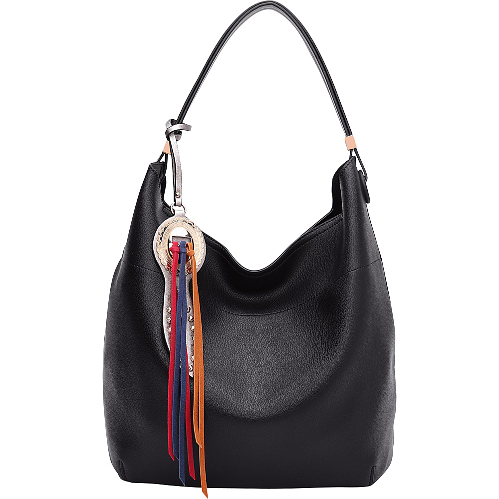 MKF Collection by Mia K. Farrow Ciara Hobo Black - MKF Collection by Mia K. Farrow Manmade Handbags - Handbags, Manmade Handbags