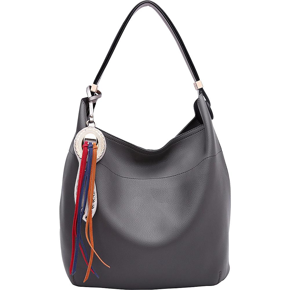MKF Collection by Mia K. Farrow Ciara Hobo Dark Grey - MKF Collection by Mia K. Farrow Manmade Handbags - Handbags, Manmade Handbags