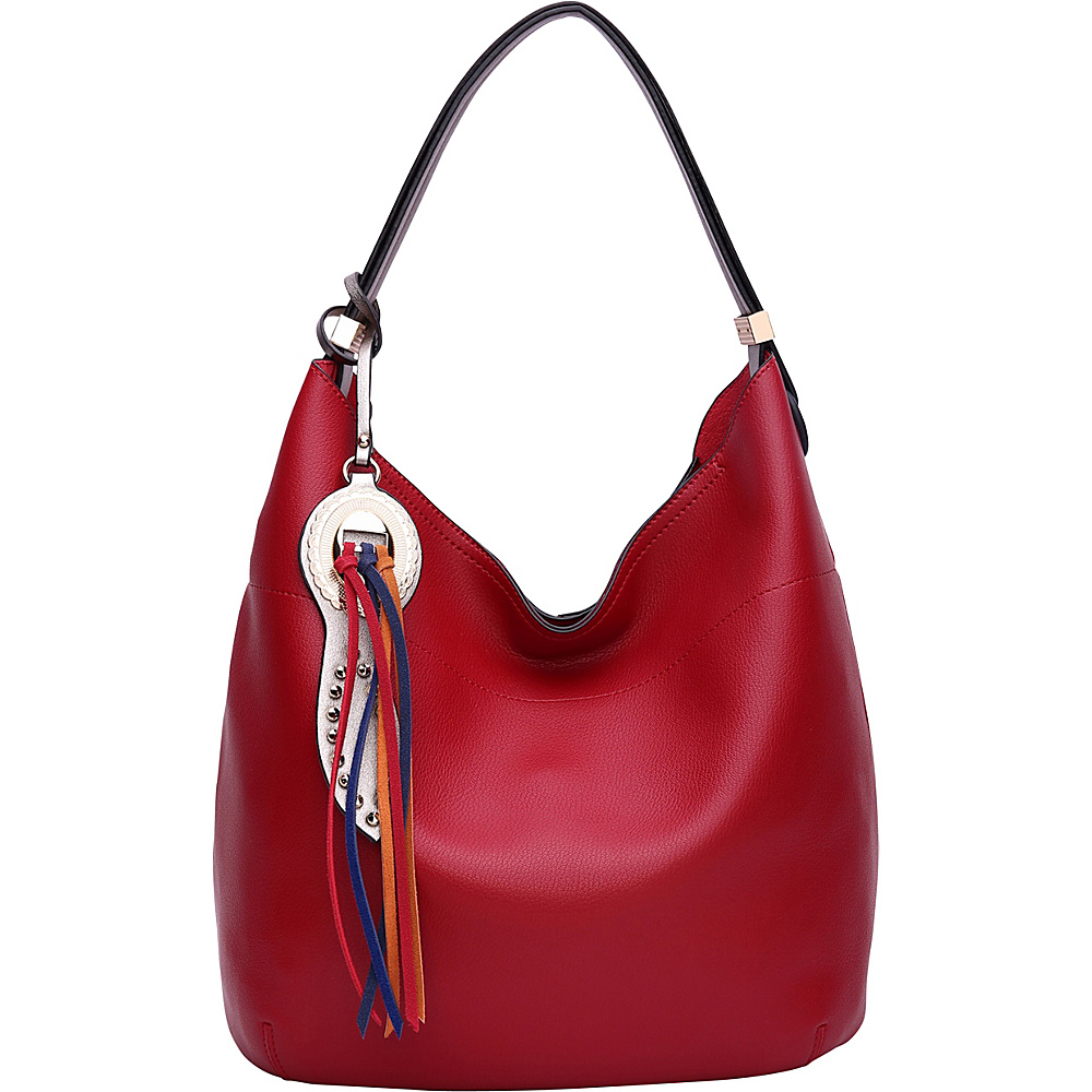 MKF Collection by Mia K. Farrow Ciara Hobo Red - MKF Collection by Mia K. Farrow Manmade Handbags - Handbags, Manmade Handbags