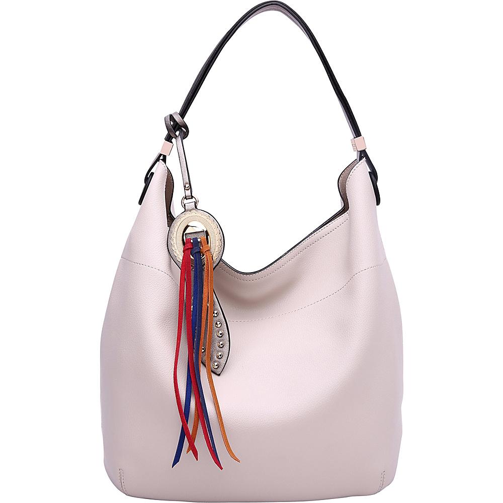 MKF Collection by Mia K. Farrow Ciara Hobo Bone - MKF Collection by Mia K. Farrow Manmade Handbags - Handbags, Manmade Handbags