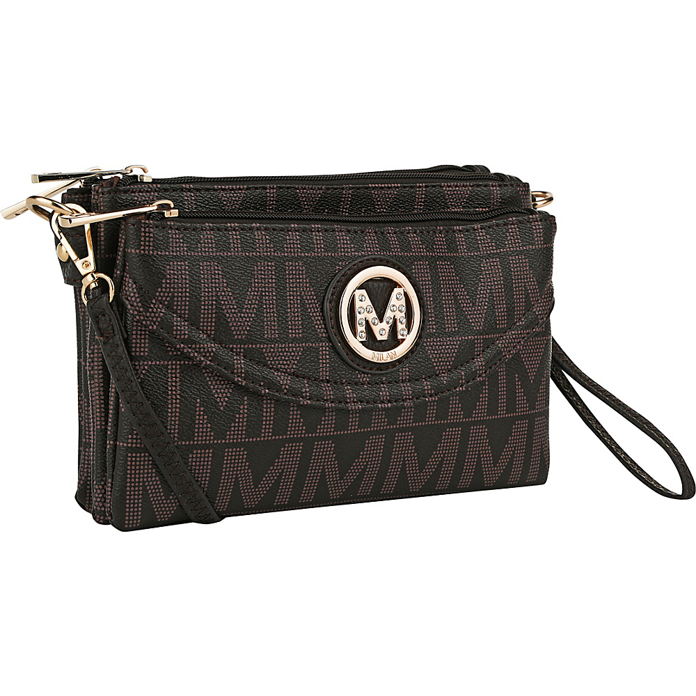 MKF Collection by Mia K. Farrow Caprice M Signature 4 Compartment Crossbody Chocolate - MKF Collection by Mia K. Farrow Fabric Handbags - Handbags, Fabric Handbags