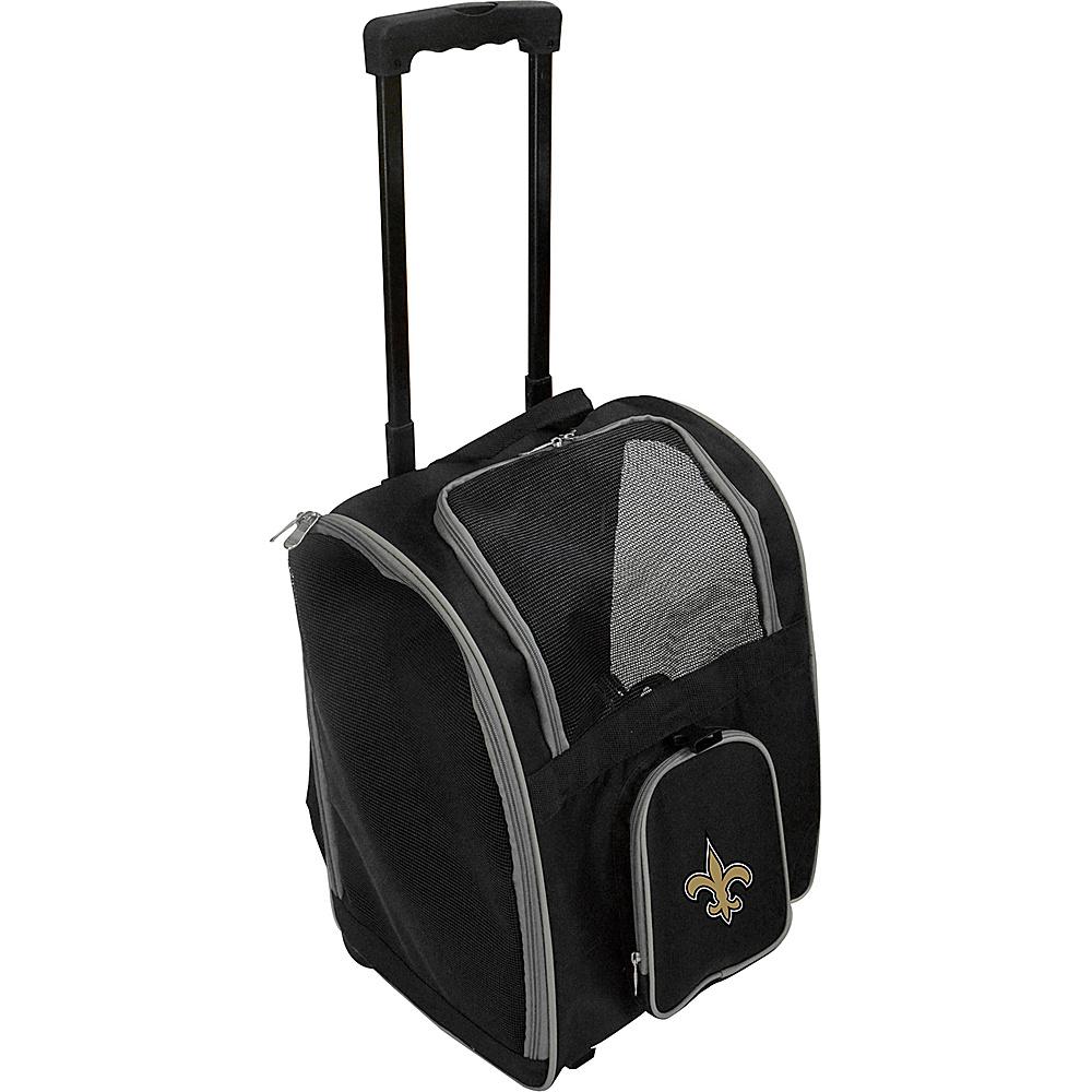 Mojo Licensing NFL Wheeled 16  Premium Pet Carrier New Orleans Saints - Mojo Licensing Pet Bags NFL Wheeled 16  Premium Pet Carrier New Orleans Saints. NFL Pet Carrier Premium bag with wheels