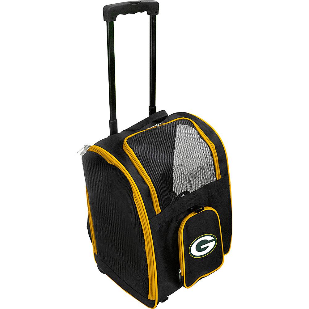Mojo Licensing NFL Wheeled 16  Premium Pet Carrier Green Bay Packers - Mojo Licensing Pet Bags NFL Wheeled 16  Premium Pet Carrier Green Bay Packers. NFL Pet Carrier Premium bag with wheels