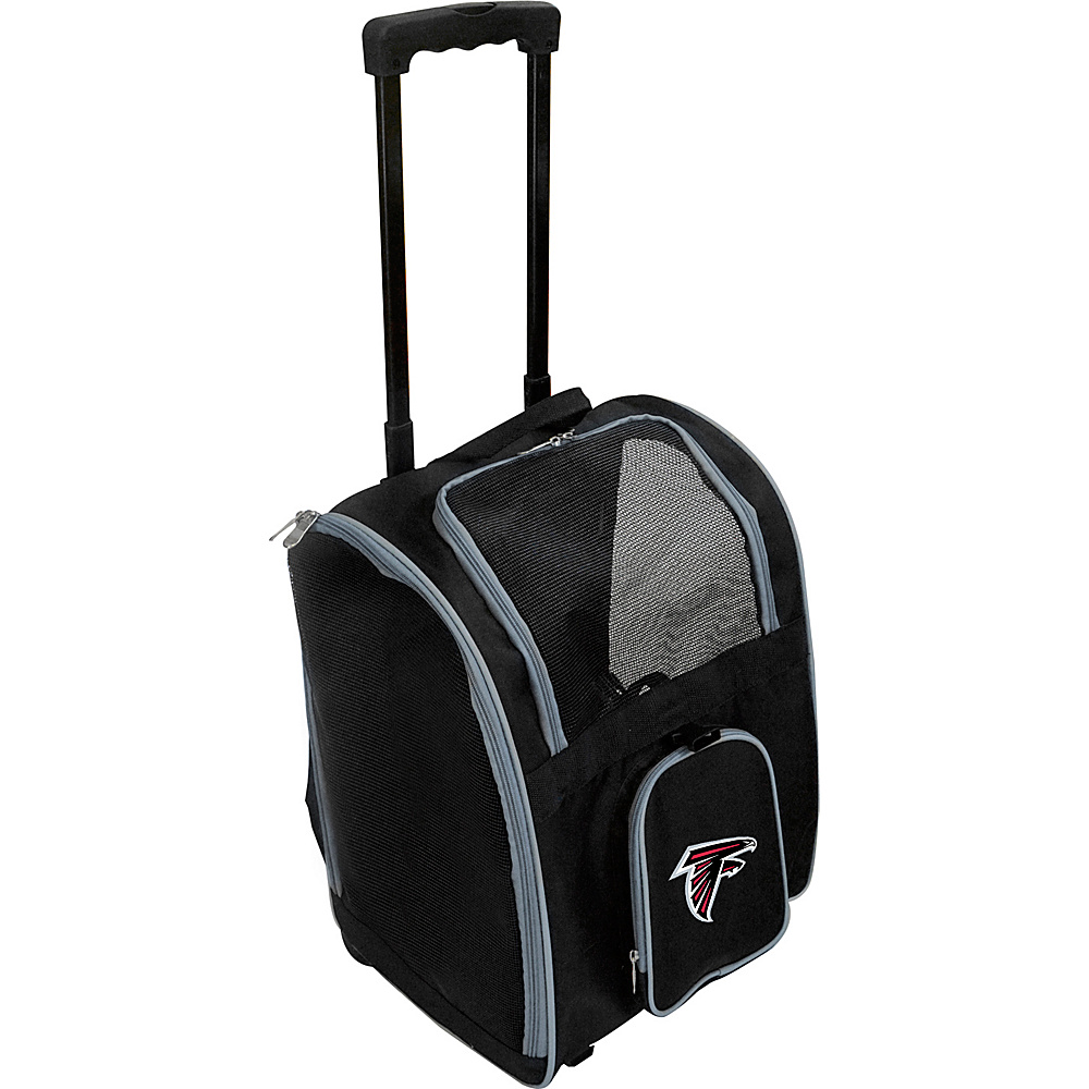 Mojo Licensing NFL Wheeled 16  Premium Pet Carrier Atlanta Falcons - Mojo Licensing Pet Bags NFL Wheeled 16  Premium Pet Carrier Atlanta Falcons. NFL Pet Carrier Premium bag with wheels
