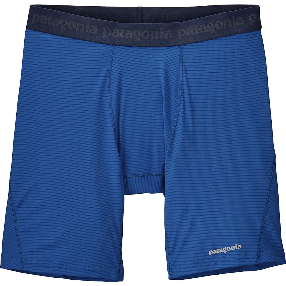 Patagonia Mens Cap LW Performance Boxers S - Superior Blue - Patagonia Mens Apparel - Apparel & Footwear, Men's Apparel