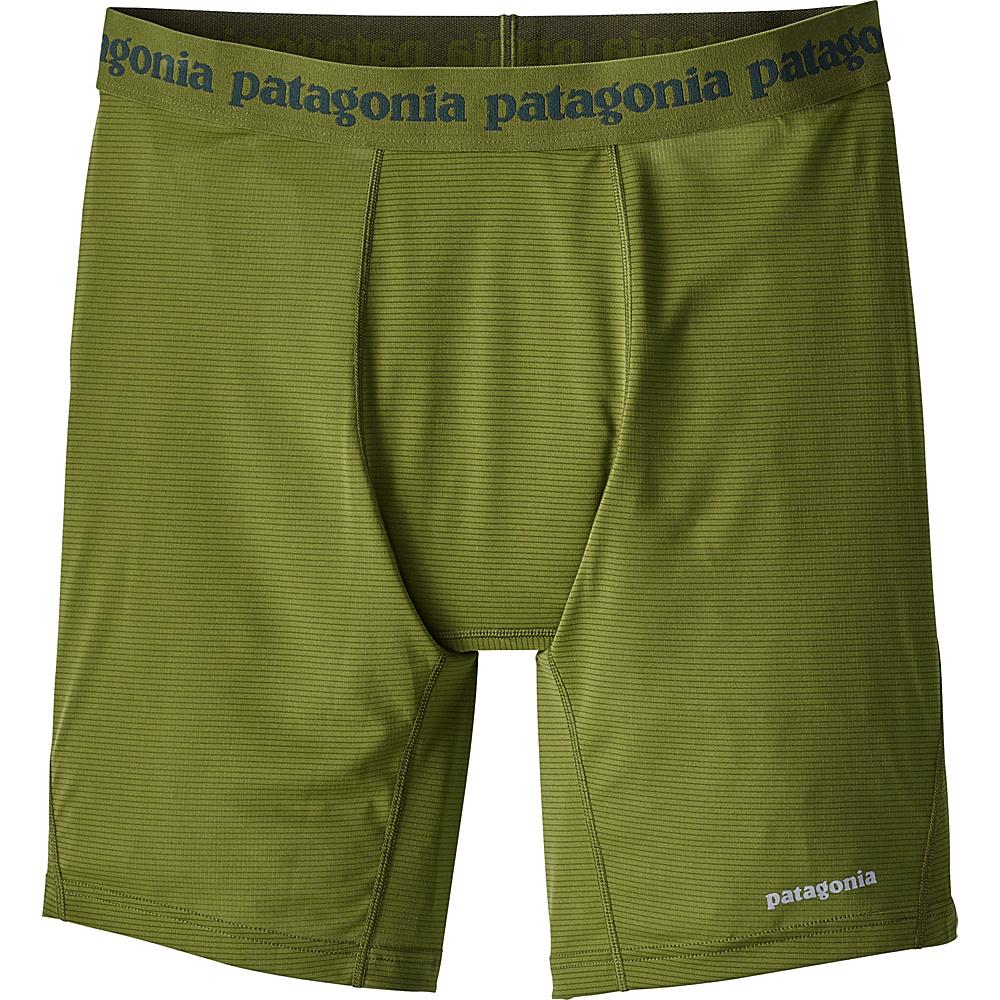 Patagonia Mens Cap LW Performance Boxers S - Sprouted Green - Patagonia Mens Apparel - Apparel & Footwear, Men's Apparel