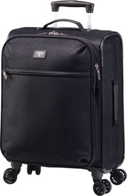 Jump Solera Expandable Carry-On Spinner Suitcase Black - Jump Softside Carry-On