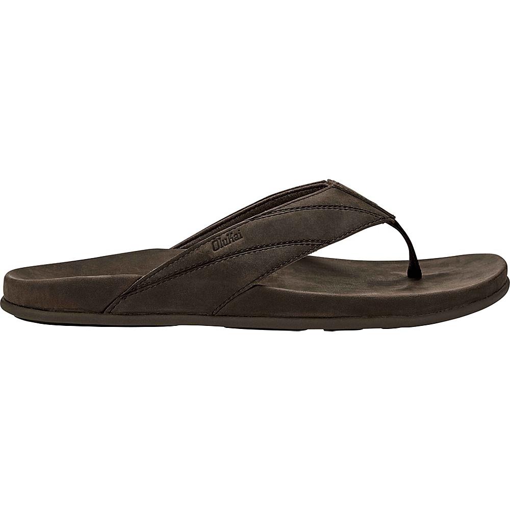 OluKai Mens Pikoi Sandal 7 - Dark Wood/Dark Wood - OluKai Mens Footwear - Apparel & Footwear, Men's Footwear