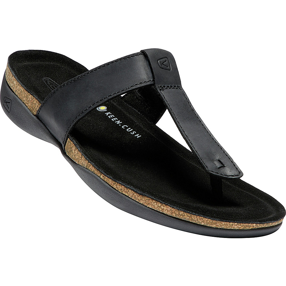 KEEN Womens Ana Cortez Flip Sandals 11 - Black - KEEN Womens Footwear - Apparel & Footwear, Women's Footwear