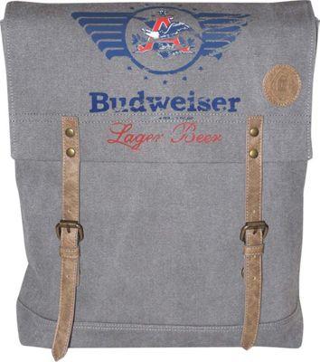 Budweiser Eagle Wings Slim Backpack Grey - Budweiser Everyday Backpacks