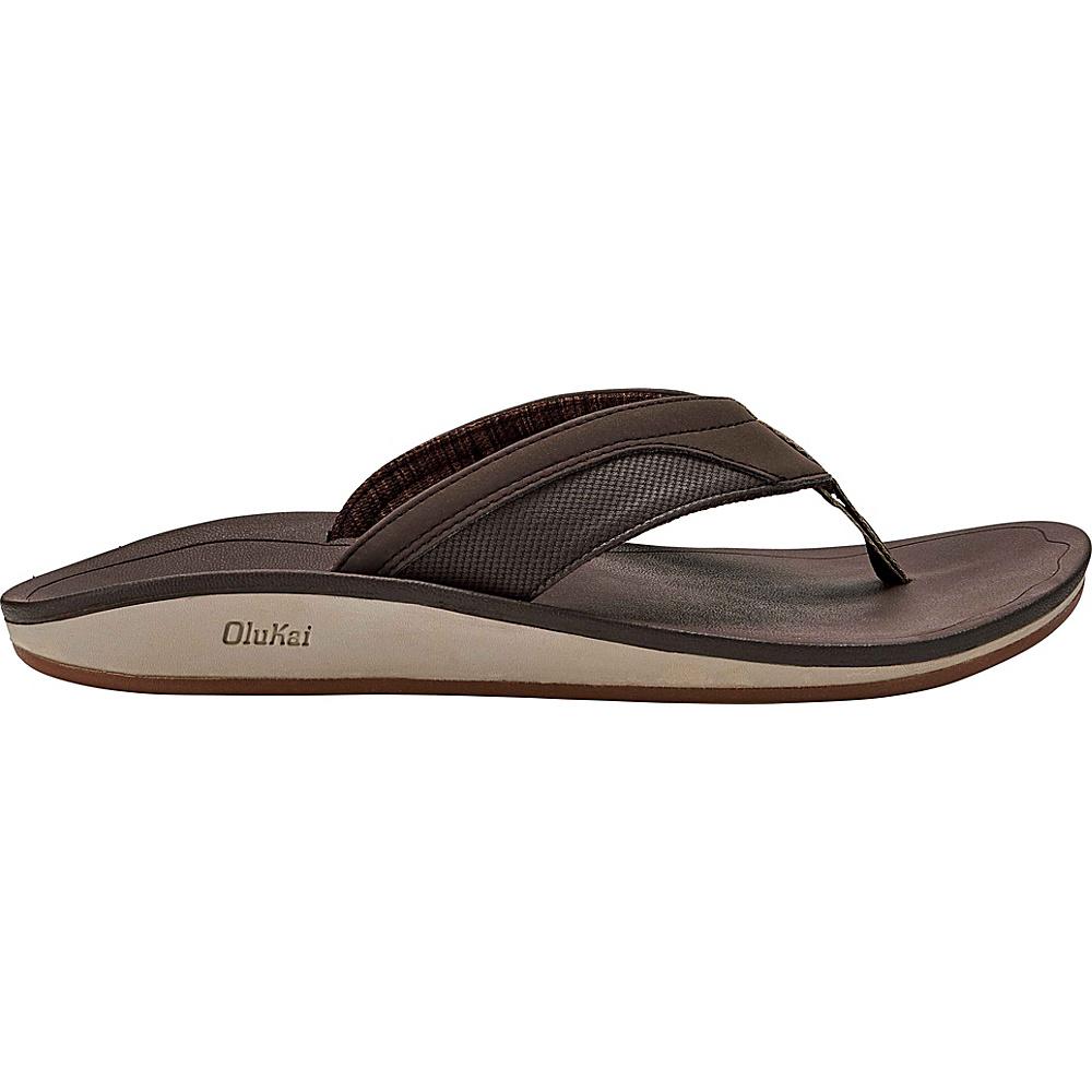 OluKai Mens Nohona Sandals 11 - Dark Wood/Dark Wood - OluKai Mens Footwear - Apparel & Footwear, Men's Footwear