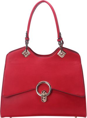STYLE STRATEGY Lock Shoulder Bag Red - STYLE STRATEGY Manmade Handbags