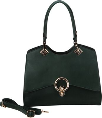STYLE STRATEGY Lock Shoulder Bag Dark Green - STYLE STRATEGY Manmade Handbags