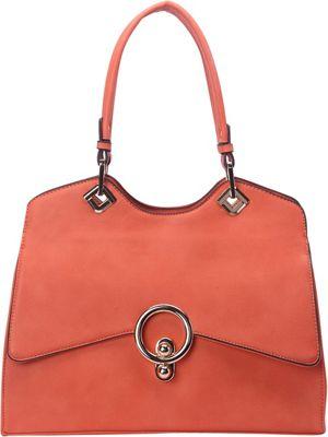STYLE STRATEGY Lock Shoulder Bag Orange - STYLE STRATEGY Manmade Handbags