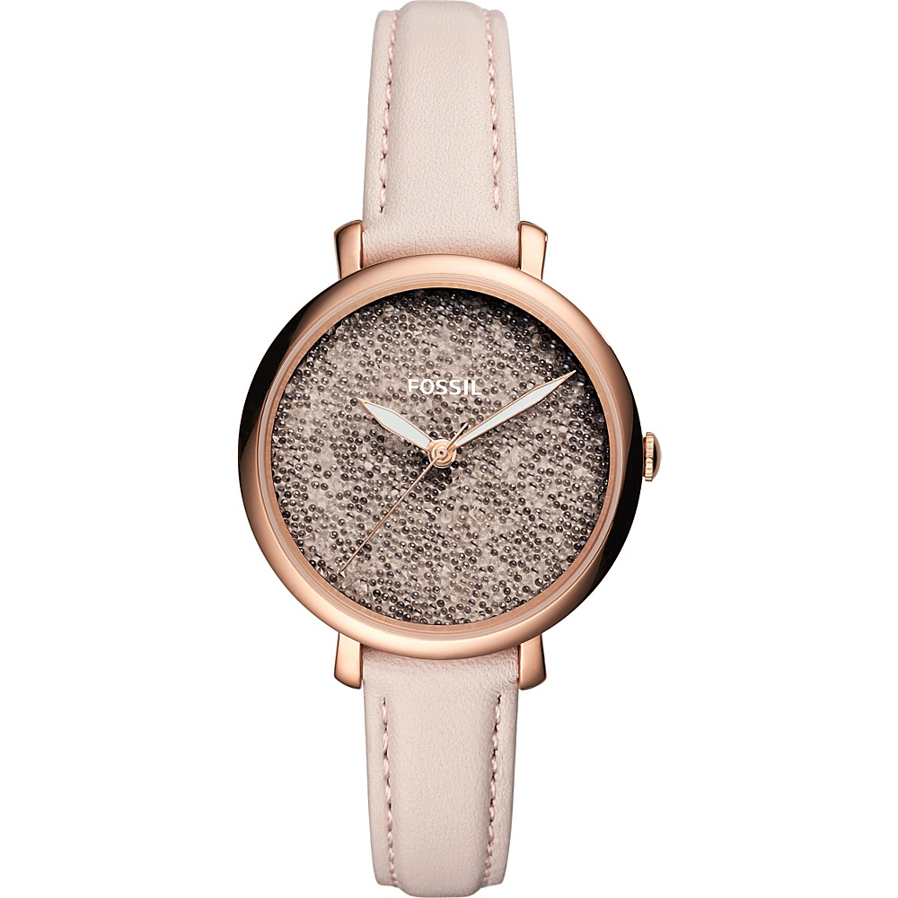 Fossil Jacqueline Three-Hand Pastel Pink Leather Watch Pink - Fossil Watches - Fashion Accessories, Watches