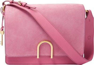 Fossil Finley Shoulder Bag Wild Rose - Fossil Leather Handbags