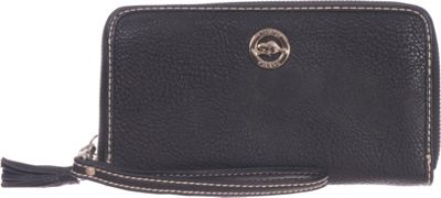 Roots 73 Zipper Round RFID Wallet with Removable Wristlet Black - Roots 73 Women's Wallets
