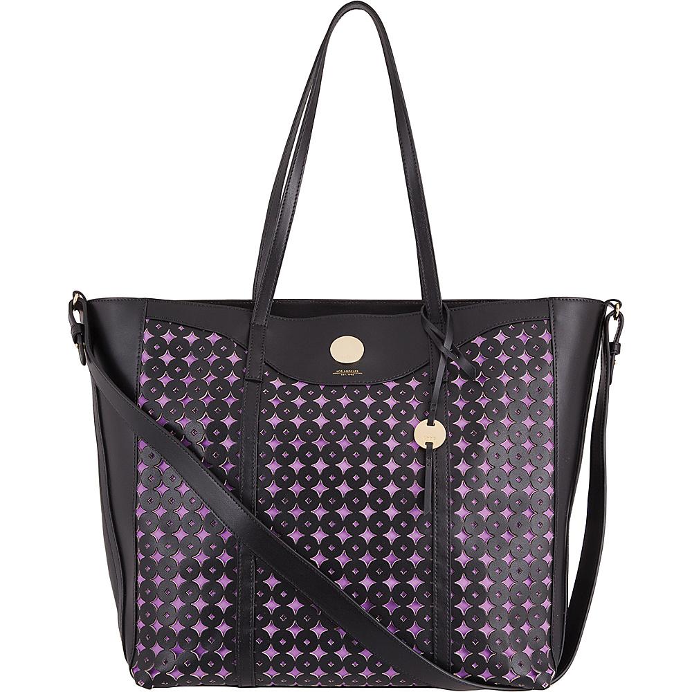 Lodis Laguna Perf RFID Onna Large Tote Black - Lodis Leather Handbags - Handbags, Leather Handbags