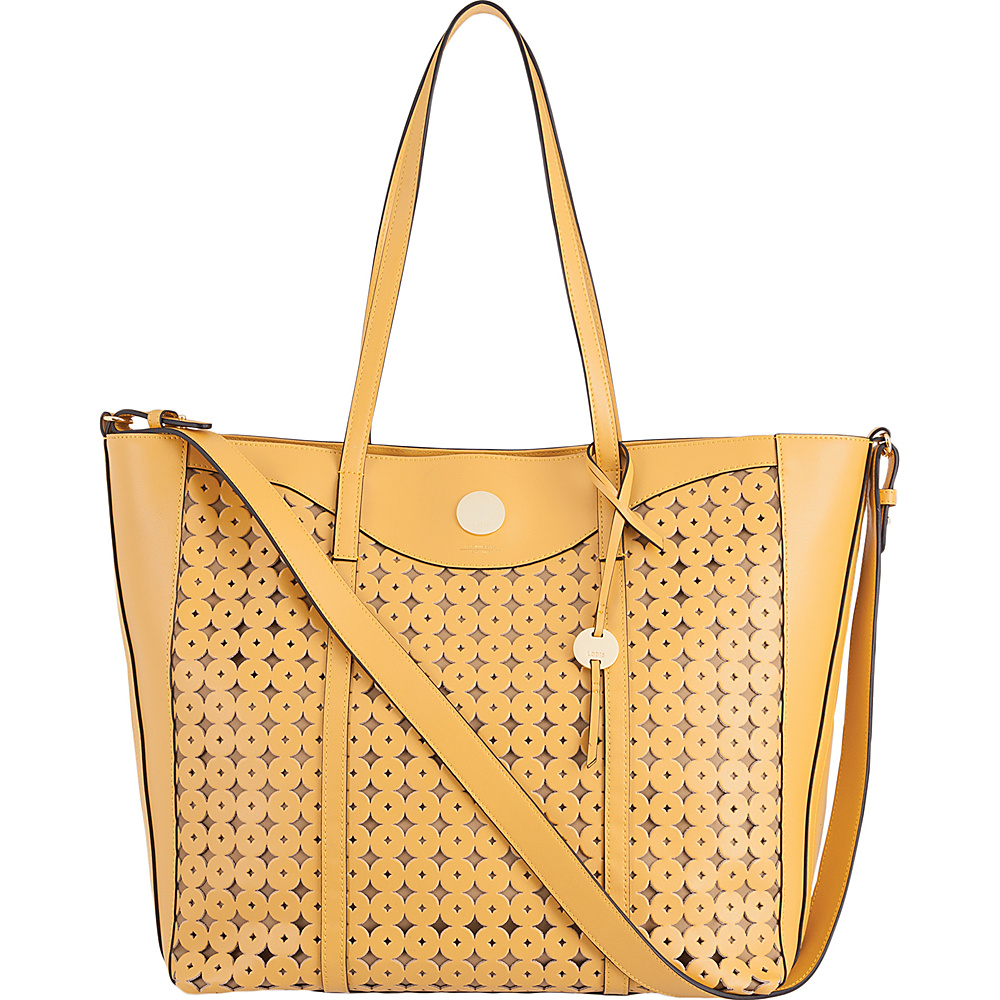 Lodis Laguna Perf RFID Onna Large Tote Yellow - Lodis Leather Handbags - Handbags, Leather Handbags