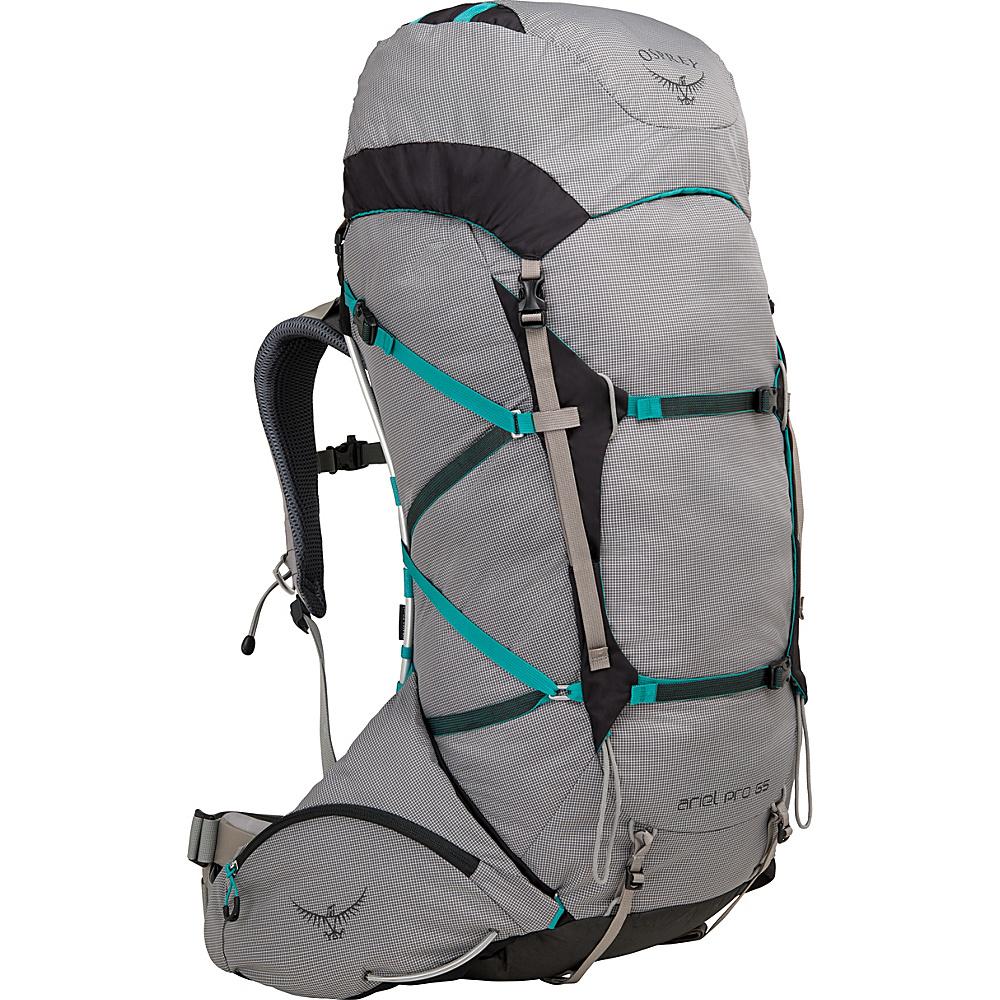 Osprey Ariel Pro 65 Hiking Backpack Voyager Grey – XS - Osprey Backpacking Packs - Outdoor, Backpacking Packs