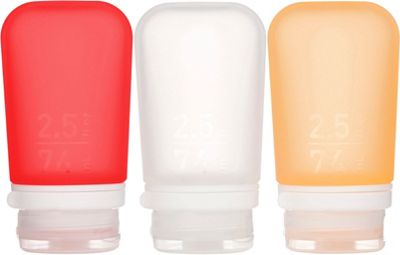 humangear GoToob+ 2.5 oz - 3 Pack Clear/Red/Orange - humangear Travel Health & Beauty