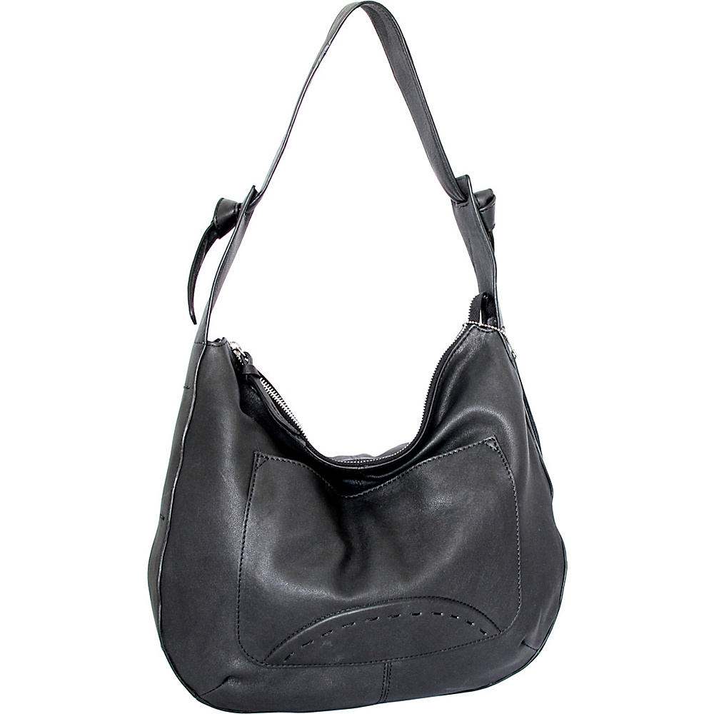 Nino Bossi Hayley Hobo Black - Nino Bossi Leather Handbags - Handbags, Leather Handbags