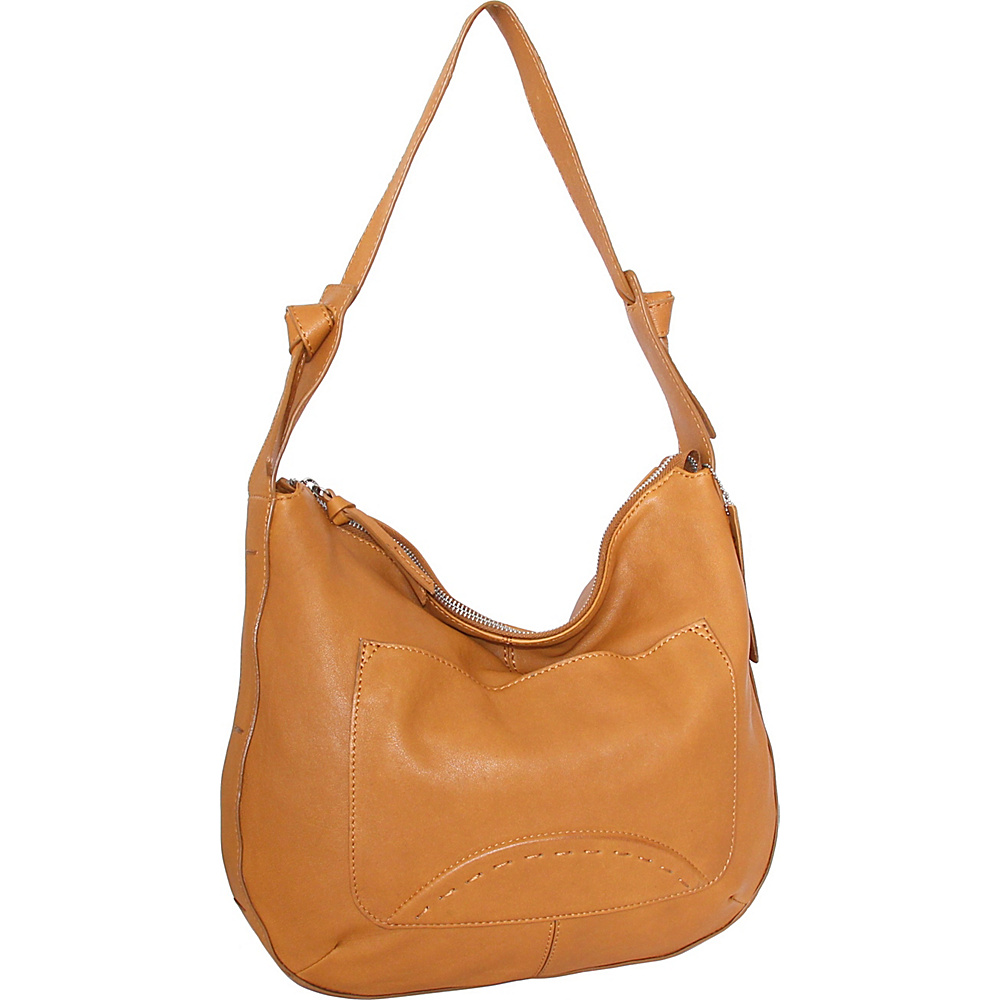 Nino Bossi Hayley Hobo Cognac - Nino Bossi Leather Handbags - Handbags, Leather Handbags