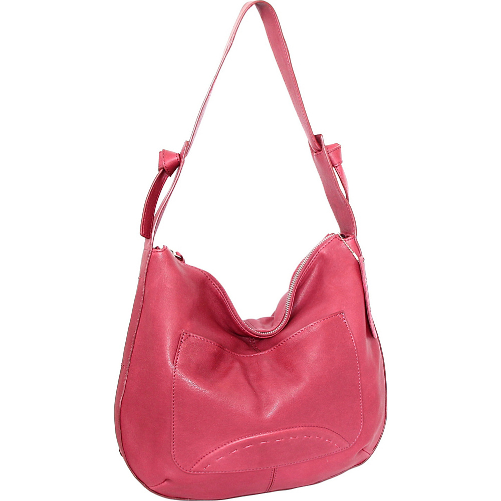 Nino Bossi Hayley Hobo Fuchsia - Nino Bossi Leather Handbags - Handbags, Leather Handbags